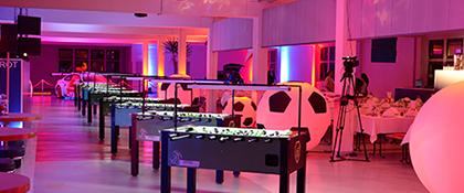 Fußball Fussball Kickern Truniert Video Beleuchtung