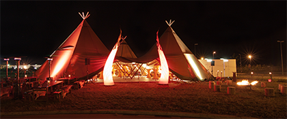 Tipis Tipi Veranstaltung Zelt Location DONAUEVENTS
