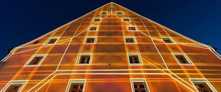 Mapping Beamer Beleuchtung Highlight Gebäude